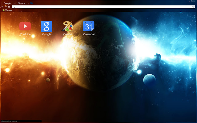 Planet Spaceix Chrome Theme