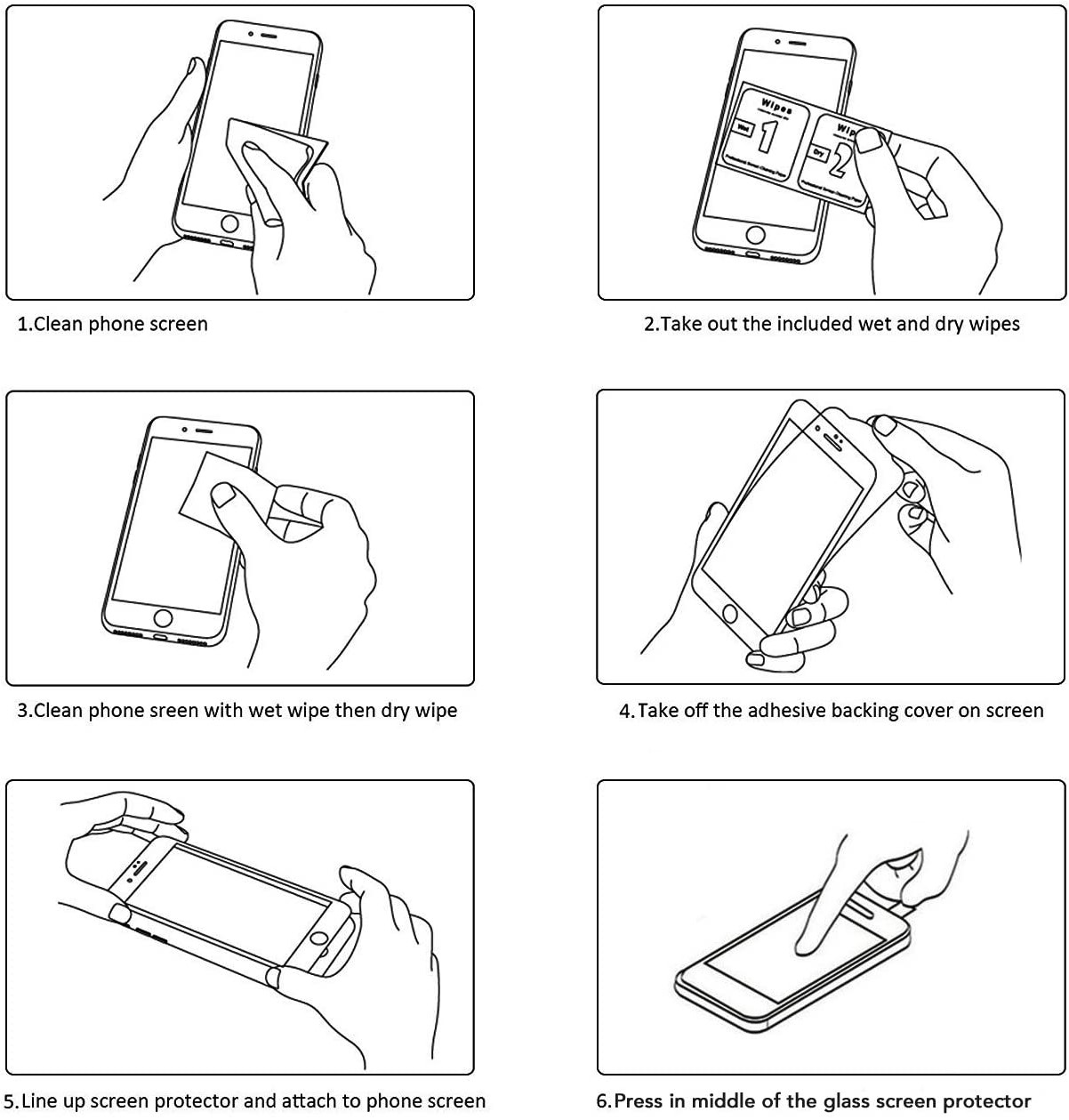 Steps to apply Screen Protector