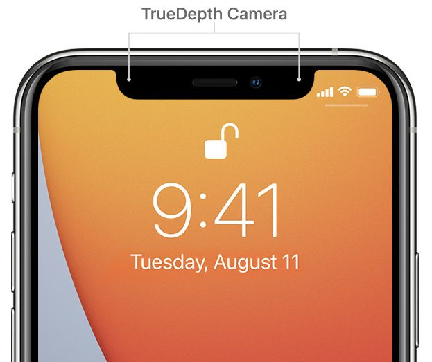 True depth camera
