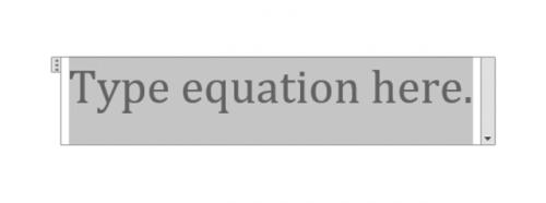 type equation
