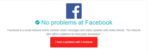 Facebook's Content Is Not Available